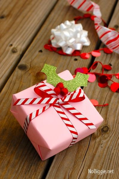Gift Wrapping Ideas Pink and Peppermint