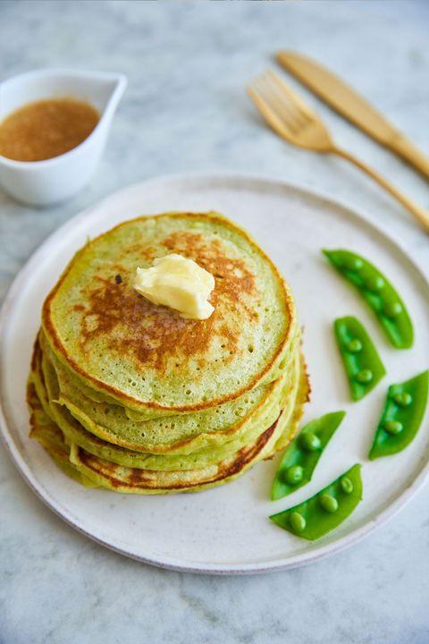 スナップえんどうの甘酒パンケーキ のレシピ・作り方|ELLE gourmet [エル・グルメ]