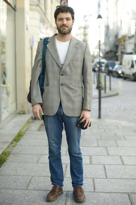 Clothing, Photograph, Street fashion, Jeans, Blazer, Outerwear, Fashion, Snapshot, Suit, Jacket,
