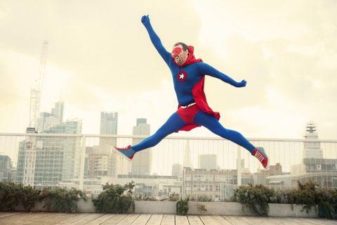 Spider-man, Superhero, Fictional character, Costume, Jumping,