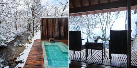 Property, House, Backyard, Home, Tree, Building, Room, Deck, Interior design, Design,