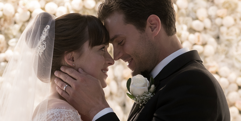 Photograph, Romance, Bride, Love, Wedding, Ceremony, Interaction, Wedding dress, Kiss, Forehead,