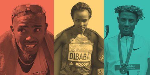 Mo Farah, Tirunesh Dibaba, Kenenisa Bekele