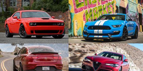 Land vehicle, Vehicle, Car, Motor vehicle, Performance car, Automotive design, Sports car, Red, Automotive exterior, Bumper,