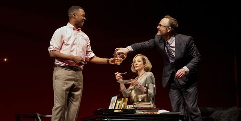 Corey Hawkins, Allison Janney, and John Benjamin Hickey in Six Degrees of Separation.
