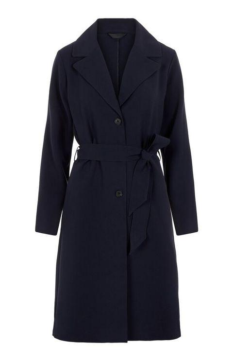 Clothing, Coat, Trench coat, Outerwear, Overcoat, Sleeve, Robe, Collar, Dress, Jacket,