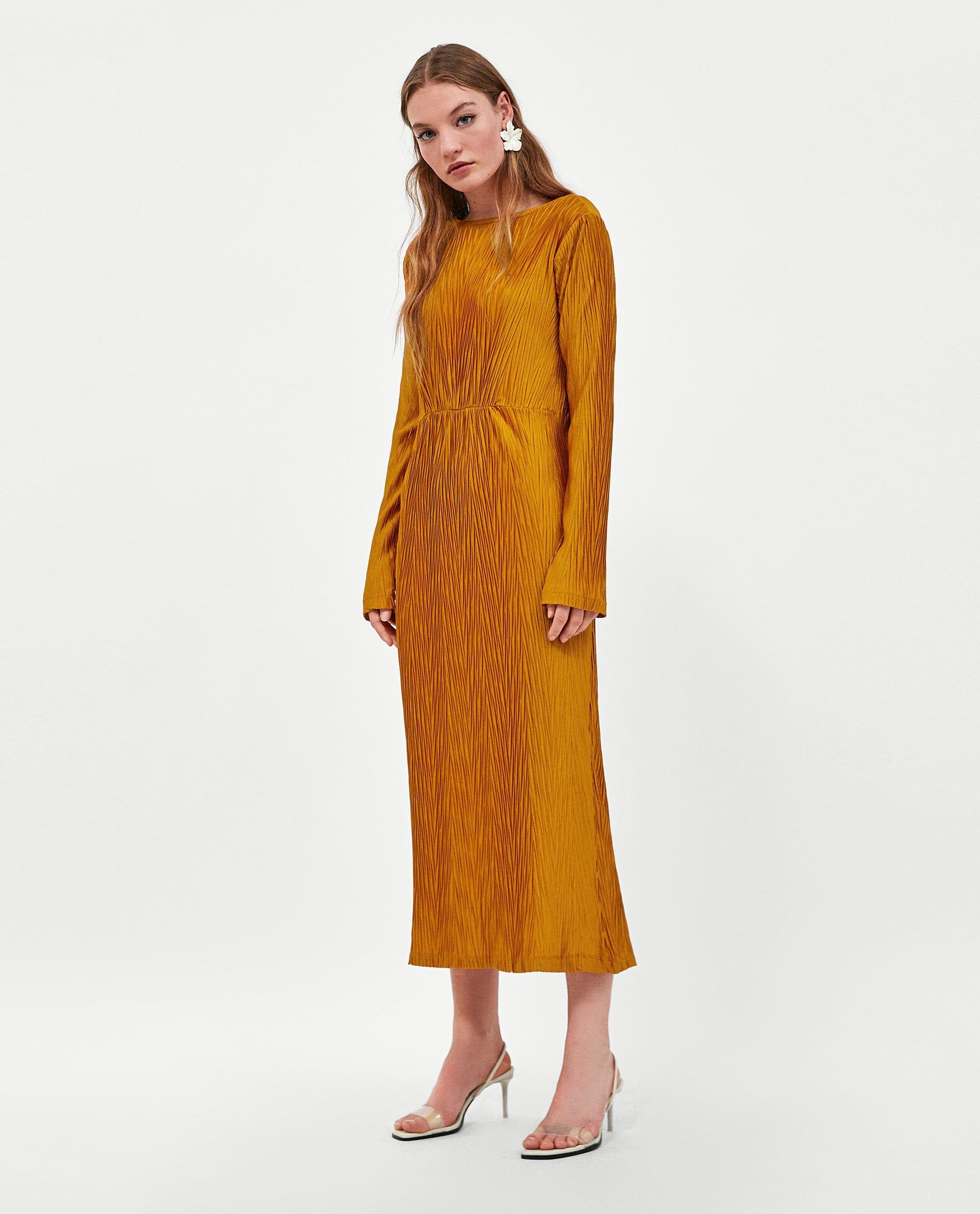 Zara vestito lungo giallo