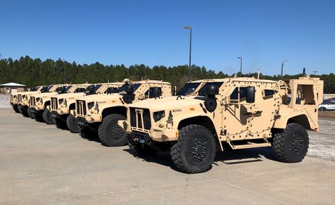 3rd Infantry Division Soldiers sign for first JLTVs