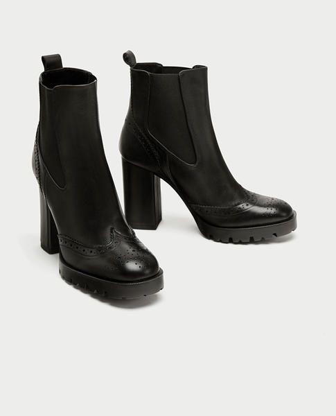Stivaletti neri Autunno Autunno Autunno Inverno 2017 2018  5 modelli di Zara da avere 9cc87e