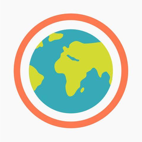 Globe, Logo, World, Illustration, Earth, Circle, Clip art, Graphics, Interior design,
