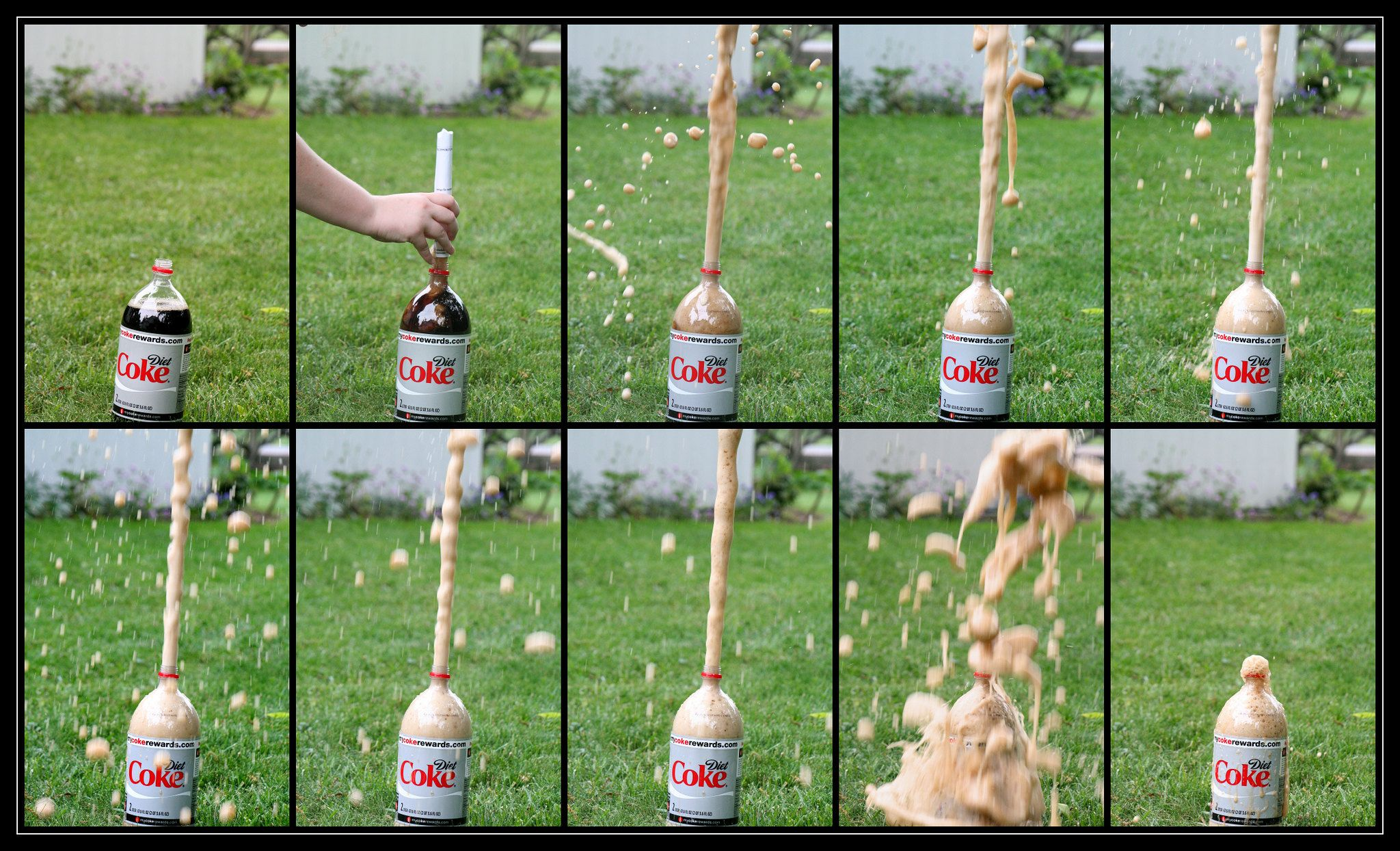how to do the diet coke mentos experiment