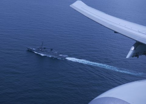 philippine sea — mar 15, 2019 —the hms montrose of the royal navy as seen from the p 8a poseidon aircraft vp 16 took part in a trilateral anti submarine warfare exercise which included royal navy, jmsdf and us assets us navy photo by mass communication specialist seaman william andrewsreleased