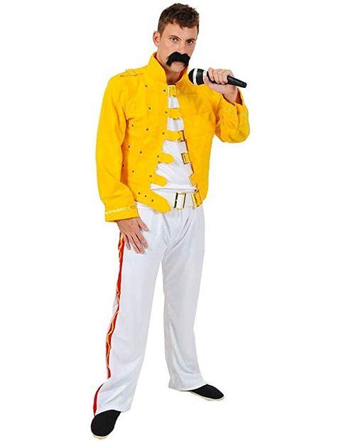 Clothing, Yellow, Suit, Outerwear, Costume, Jacket, Gospel music, Trousers, Sportswear, Formal wear,
