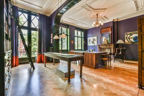 Building, Room, Property, Interior design, Furniture, Ceiling, Real estate, House, Floor, Architecture,