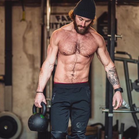 Barechested, Physical fitness, Muscle, Chest, Arm, Abdomen, Chin, Room, Crossfit, Standing,