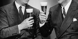 Two Guys Drinking Beer with 300x150