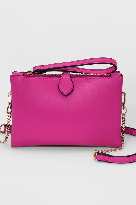 Handbag, Bag, Pink, Magenta, Fashion accessory, Shoulder bag, Leather, Purple, Coin purse, Wristlet,