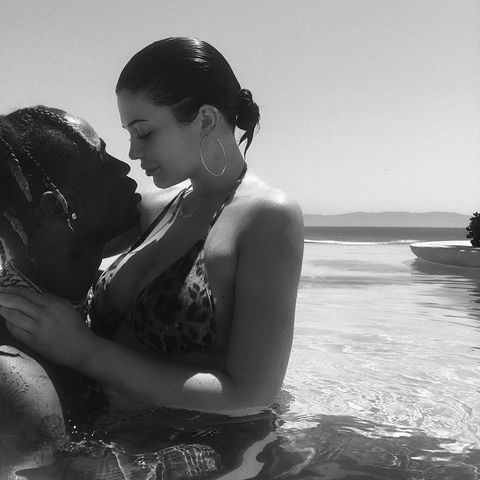 7e6ee3d8608 Kylie Jenner Wore a Dolce & Gabbana Leopard Print Bikini on Vacation
