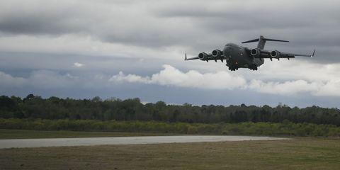 C-17 performs semi prepared runway operations flight