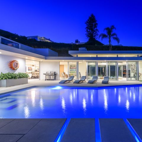 Swimming pool, Property, Building, House, Home, Lighting, Real estate, Mansion, Estate, Architecture,