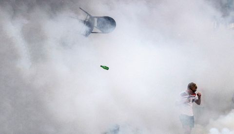 Atmospheric phenomenon, Sky, Smoke, Cloud, Photography, Extreme sport, Space,