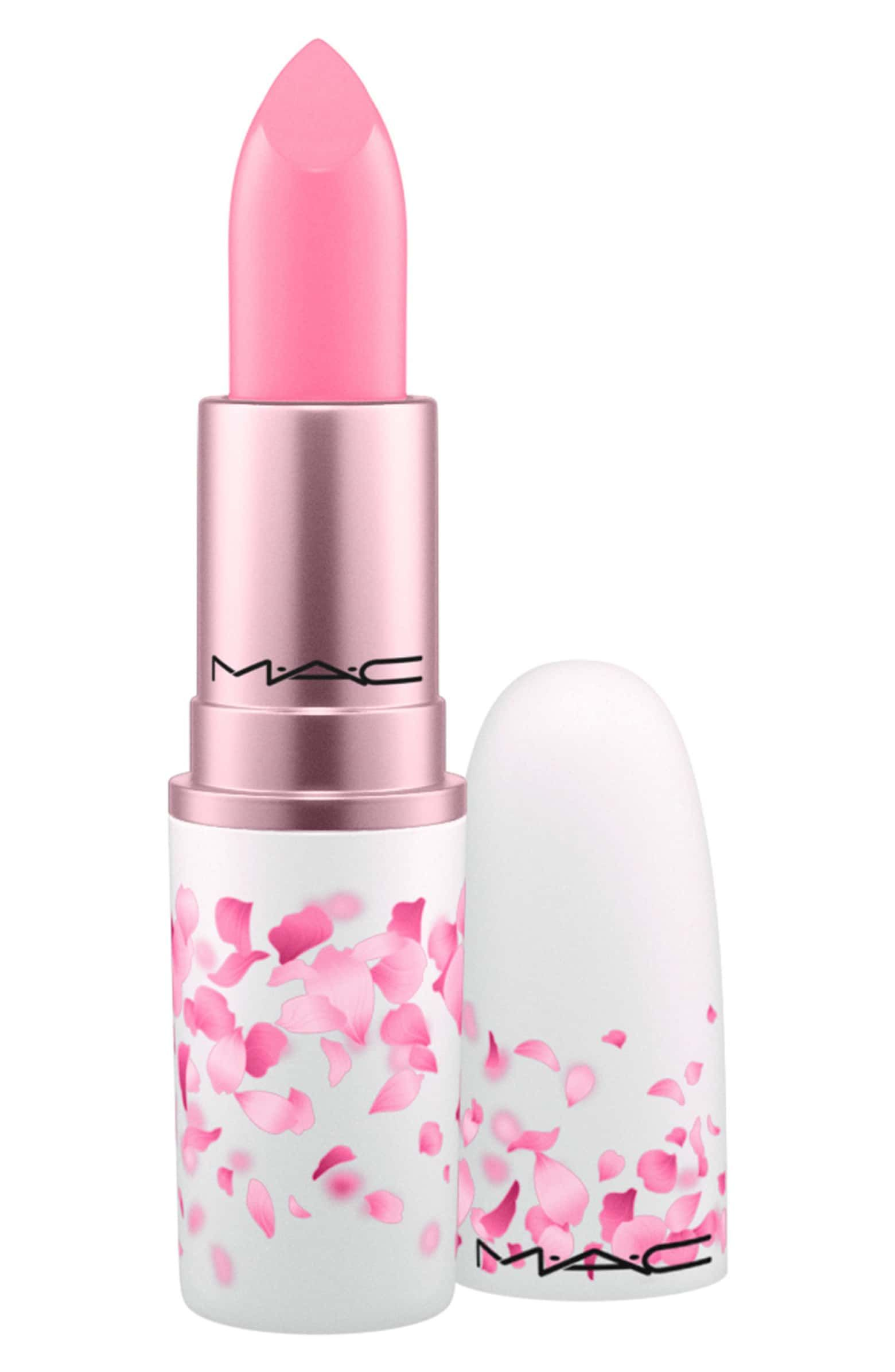 Pastel Pink MAC Boom, Boom, Bloom Lipstick in Hey Kiss Me, $20 SHOP IT It feels on-theme to own a lipstick that matches the spring flowers blooming outside. This pastel pink shade accompanied by this flower-adorned bullet will be the prettiest thing on your vanity.