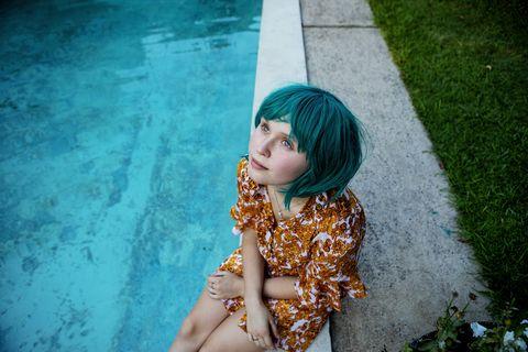 Water, Blue, Green, Beauty, Skin, Yellow, Eye, Lip, Snapshot, Summer,