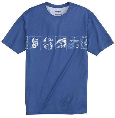 T-shirt, Clothing, Active shirt, Blue, Sleeve, Sportswear, Font, Top, Jersey, Electric blue,
