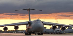 C-5M Super Galaxy taxis at Dover AFB