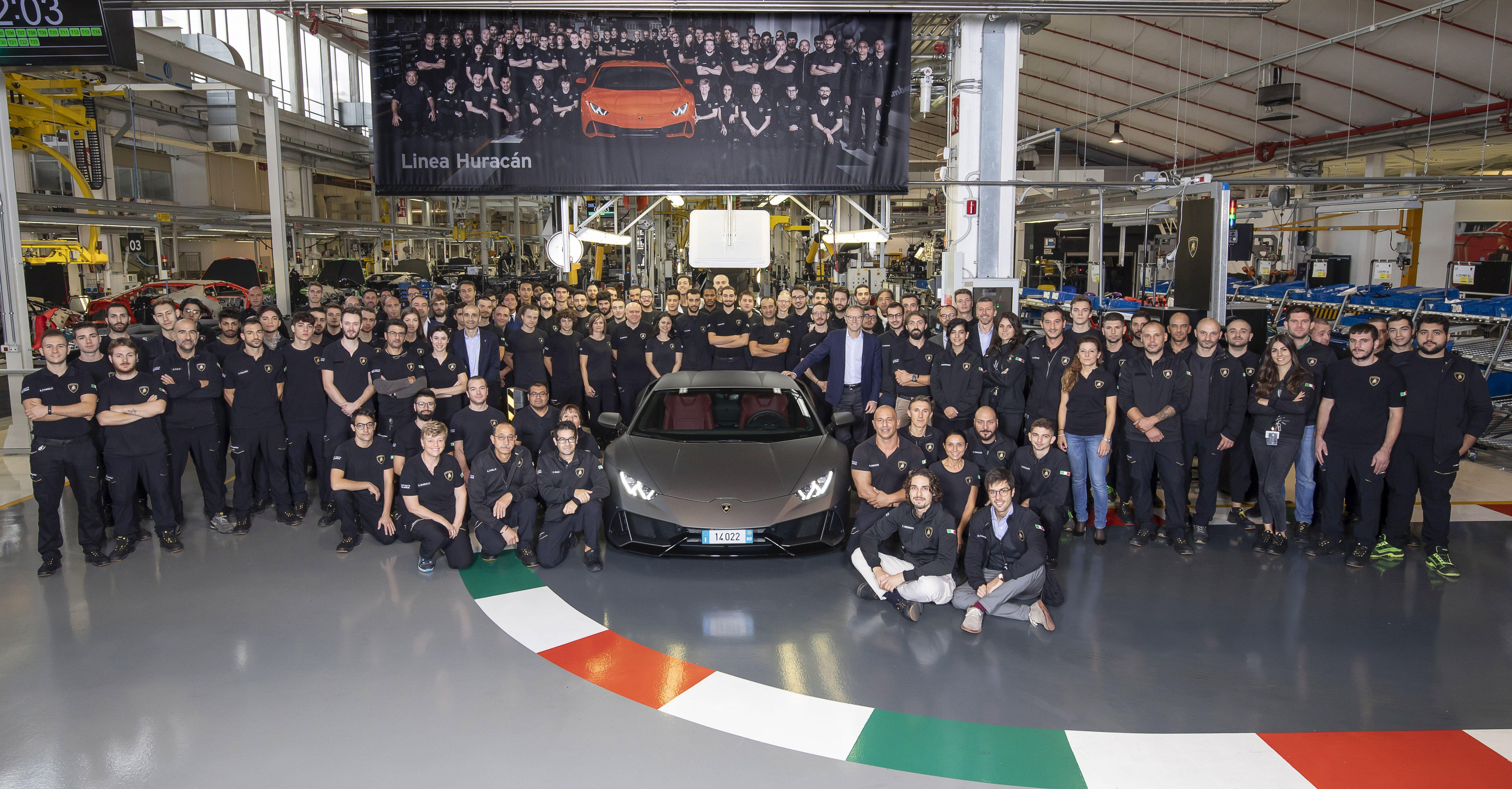 Lamborghini Built 14,022 Huracans in Five Years