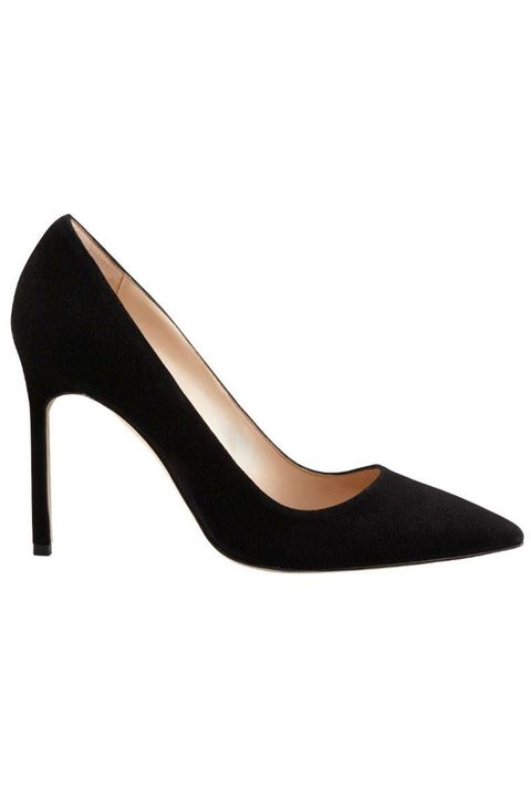 Footwear, High heels, Court shoe, Leather, Shoe, Basic pump, Beige, Suede,