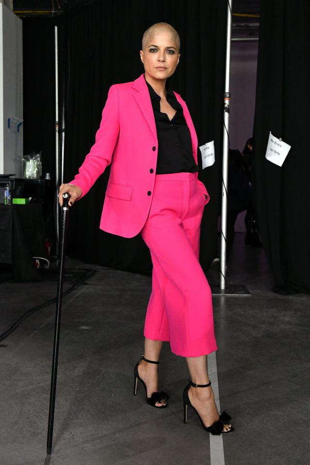new york, new york   october 17 actor selma blair poses backstage during the time 100 health summit at pier 17 on october 17, 2019 in new york city photo by craig barrittgetty images for time 100 health summit