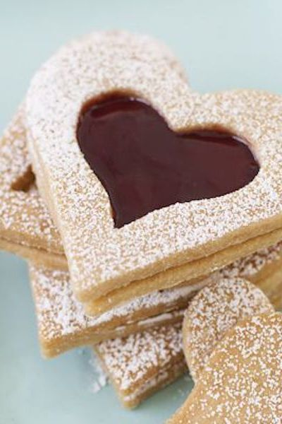 Christmas Biscuits Vanilla Shortbread Hearts
