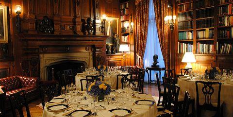 Restaurant, Room, Table, Furniture, Interior design, Building, Function hall, Rehearsal dinner, Dining room, Tavern,