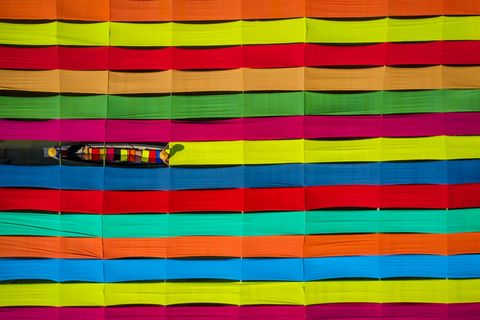 Zay Yar Lin, Colors of Inle Fabrics, Inle Lake, Myanmar