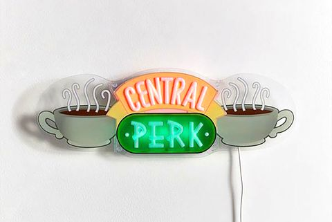 Urban Outfitters Is Selling A Neon Central Perk Sign I Friends I Decorations Central perk sticker television show, central park, television, food png. neon central perk sign