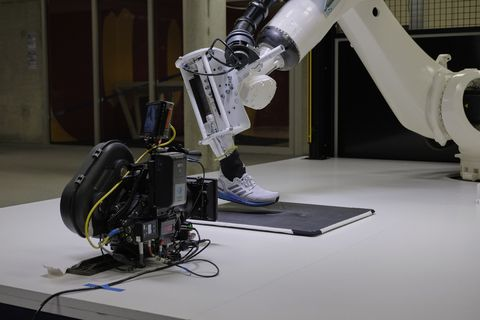 Robot, Scientific instrument, Machine, Microscope, Technology, Electronics, Optical instrument, Science, Engineering,