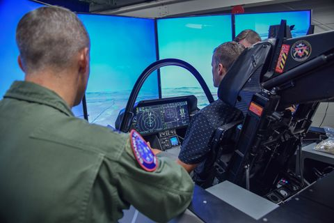 F-35 simulator visits the 2019 Sioux Falls Airshow