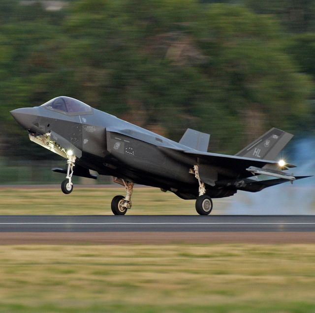 an f 35a lightning ii lands after an evening sortie at hill air force base, utah, aug 19, 2019 night flying is required for pilots to sharpen their combat skills and maintainers work around the clock to prepare jets for flight, inspect them after flight and get them ready for the next flying day the 388th fighter wing is the air force's first combat coded f 35a wing   us air force photo by alex r lloyd