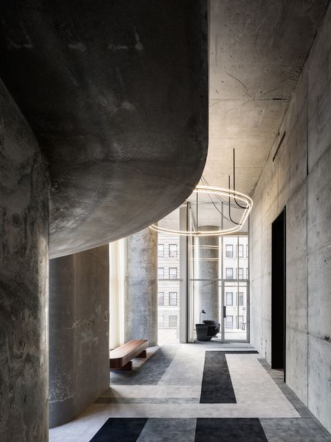 Architecture, Building, Wall, Cement, Floor, Room, Concrete, House, Ceiling, Interior design,