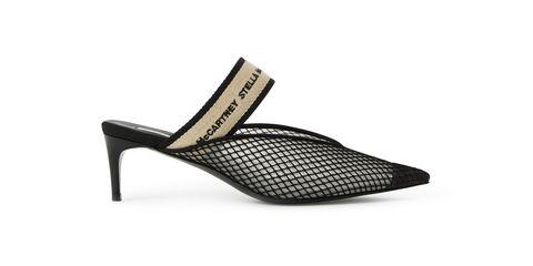 Footwear, Slingback, Black, Shoe, High heels, Sandal, Beige, Leather, Court shoe, Basic pump,