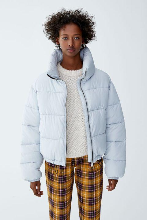 Clothing, White, Outerwear, Hood, Jacket, Plaid, Fashion, Sleeve, Parka, Fur,