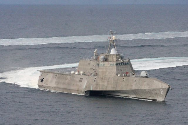 the littoral combat ship uss independence lcs 2 operates in the waters off southern california the littoral combat ship is a fast, agile, networked surface combatant designed to operate in the near shore environment, while capable of open ocean tasking, and win against 21st century coastal threats such as submarines, mines, and swarming small craft us navy photo by lt jan shultisreleased