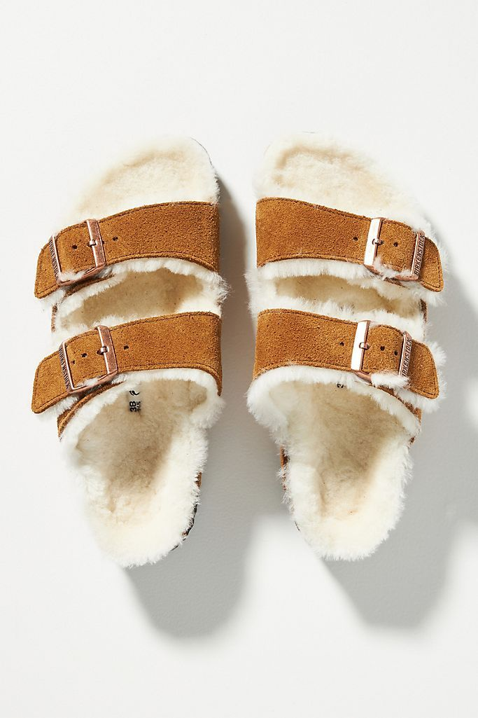 How BAZAAR: Shearling Sandals Are All We Need Now