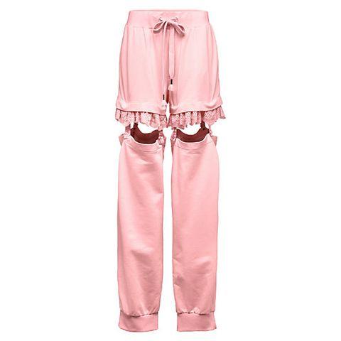Clothing, Pink, Trousers, Outerwear, Sleeve, Peach, Pocket, Pajamas, Satin, Nightwear,