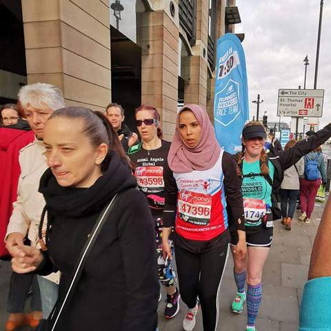 elizabeth ayres london marathon