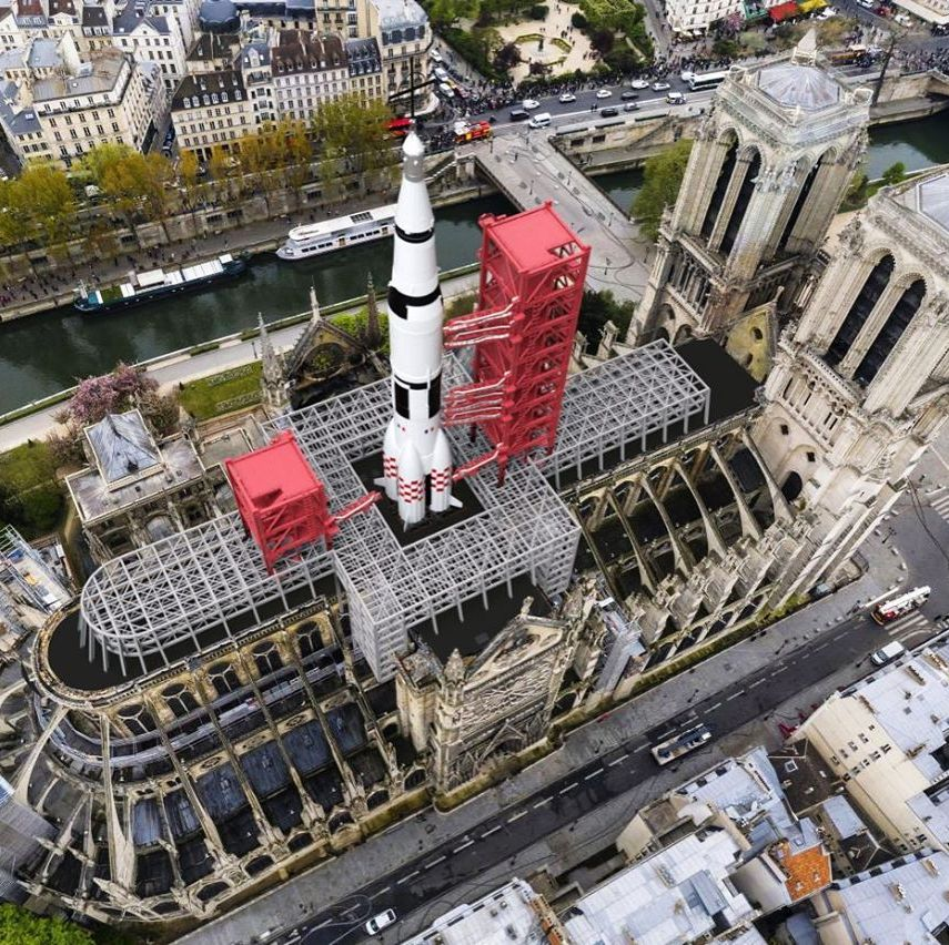 The Wildest Proposals for Notre-Dame's New Roof