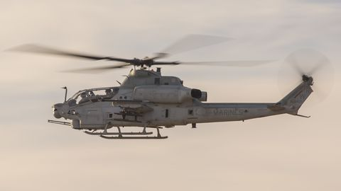 us marines with marine light attack helicopter squadron hmla 775, 4th marine aircraft wing, fly an ah 1z cobra at the marine corps air station camp pendleton, california, nov 18, 2019 this is the first ah 1z that hmla 775 has received as part of their ah 1w to ah 1z transition us marine corps photo by pfc seth g merz