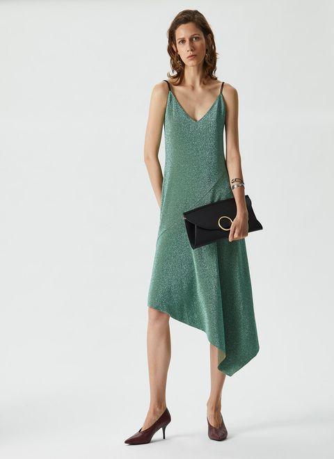 Clothing, Dress, Fashion model, Day dress, Green, Photo shoot, Turquoise, Aqua, Cocktail dress, Fashion,