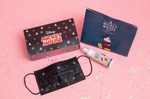grace gift、holic開賣「迪士尼米奇成人平面口罩」、米奇抗菌噴霧米奇專屬禮物袋